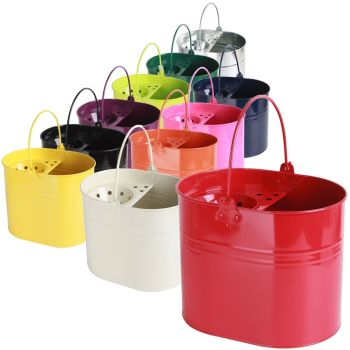 Large Metal Steel Colour Mop Bucket with Handle