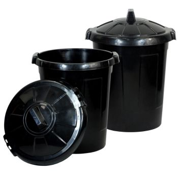 90 Litre XL Plastic Dustbin - Multi Buy