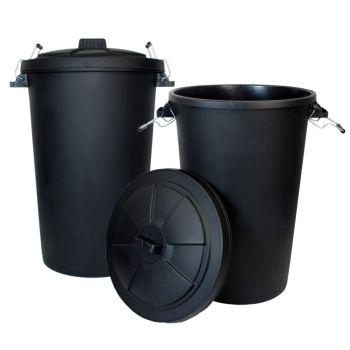 90 Litre Plastic Bin With Locking Lid - Multi Buy