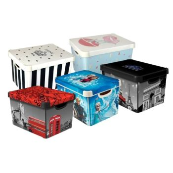 Curver Deco Box Themed Storage Boxes With Lids