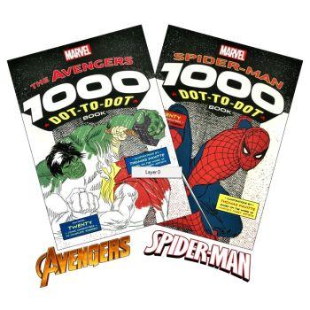 Set Of 2 Marvel & Spider Man Dot To Dot Books