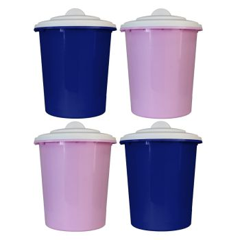 Multi-Purpose Bin Storage Container With White Lid - Choice Of Colours