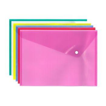 Pixel A4 Popper Wallet Folder Document - Assorted Colours