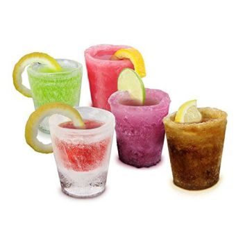 Ice Shot Plastic Frozen Party Drink Glass Mould Tray Freeze Cube Maker Set