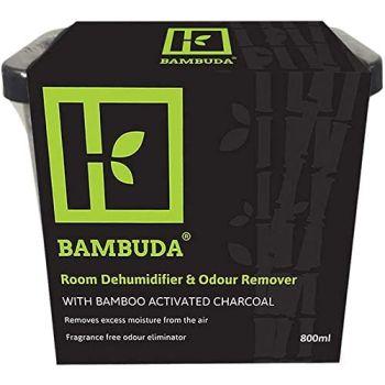 Bambuda 800ml Bamboo Activated Charcoal Interior Dehumidifiers