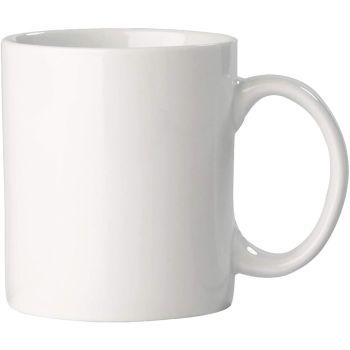 Plain White Ceramic Mugs 330ml