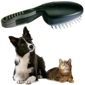 Ionic Pet Grooming Brush - Brush Away Pet Odours Without Washing