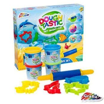Grafix Sealife Doughtastic Play Dough Set Molding Modelling Tubs & Cutters