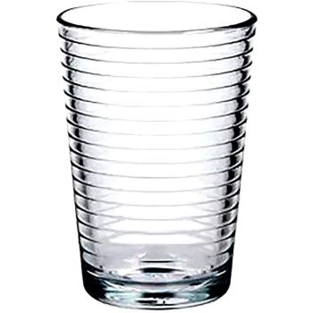 Lucenté Tumbler Drinking Glasses with Ring Loop Design