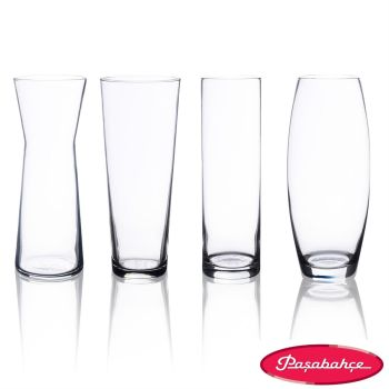 Pasabahce Botanica Clear Glass Vases