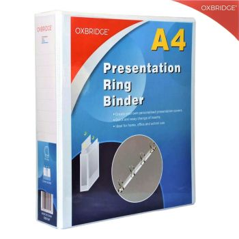 Oxbridge A4 Presentation Ring Binder - Set Of 10