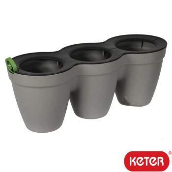 Keter Ivy Herb Planter - Mini Trio Pot