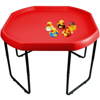Children's Large Plastic Water Fun Mixing Play Tray and 5 Random Rubber Duckies