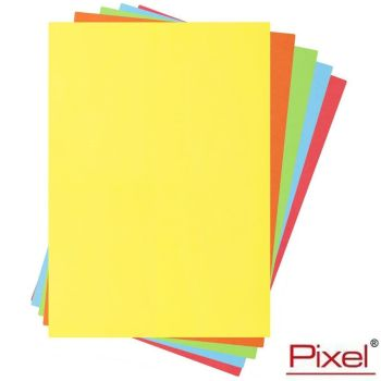 Pixel A4 80gsm Assorted Coloured Bright Paper - 100 Sheets
