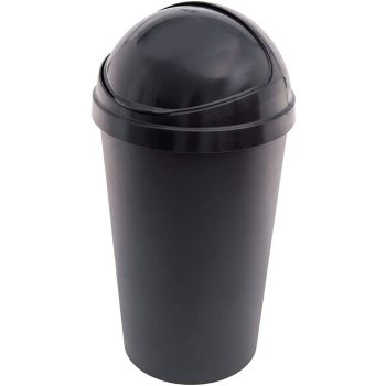 Anthracite Black Kitchen Bullet Bin with Roll Open Lid