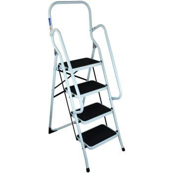 4 Step Ladder Non Slip With Safety Handrail
