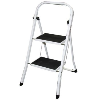2 Step Non Slip Folding Safety Ladder