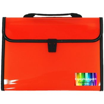 A4 Office Home School Expanding File 13 Pockets Document Organiser Folder Storage Case with Handle