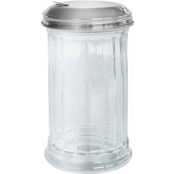 Lucenté Retro Glass & Stainless Steel Sugar Dispenser