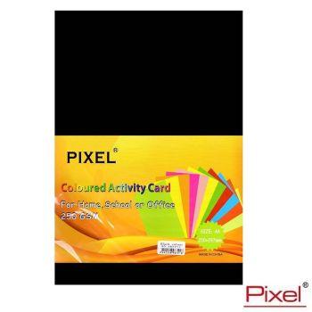 Pixel A4 80/250gsm Black Card - 25 Sheets