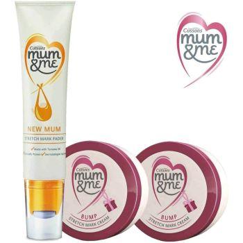 Cussons Mum & Me - 2 X Stretch Mark Cream And 1 X Stretch Mark Fader Serum