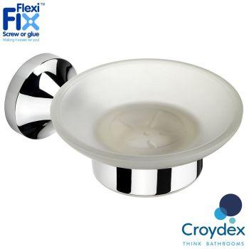 Croydex Flexi-Fix Torbay Soap Dish And Holder