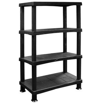 Storage Shelving Shelves Unit 4 Tier Racking Plastic for Home Living Room Garage