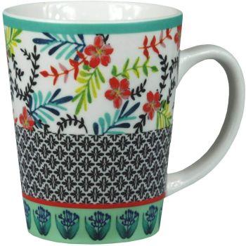 Decorative Floral Ceramic Tea Coffee Cups/Mugs 250ml