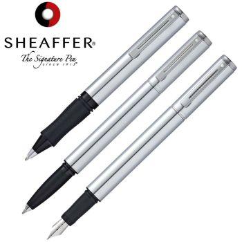 Sheaffer 3 Piece Brushed Chrome Pen Set