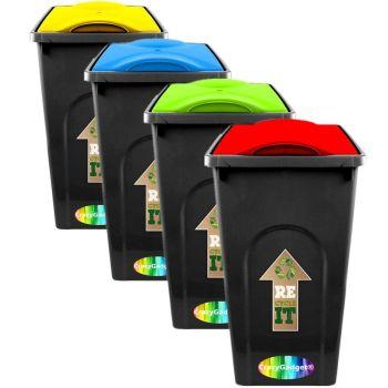 50 Litre Plastic Waste/Recycling Bin - Multi Buy
