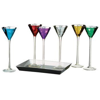 Simpa Shooting Stars Multi-Coloured Decorative Party Glasses