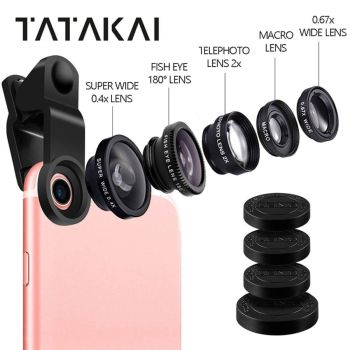 Universal Clip On 5 In 1 Mobile Phone Lens