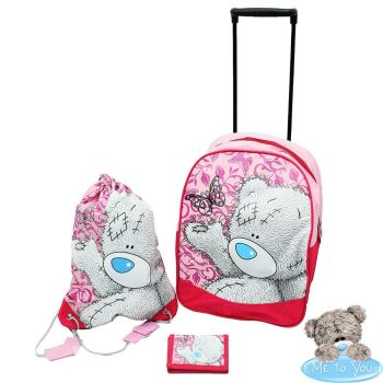 Me to You 3 Pieces Childrens Kids Luggage Wheelie Trolley Travel Set
