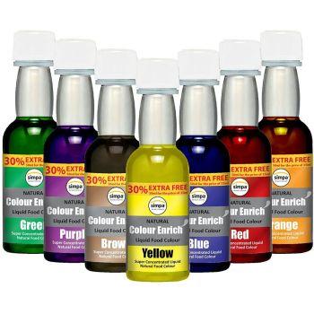 Enrich Natural Colour Liquid Food Colouring Super Concentrated Formula