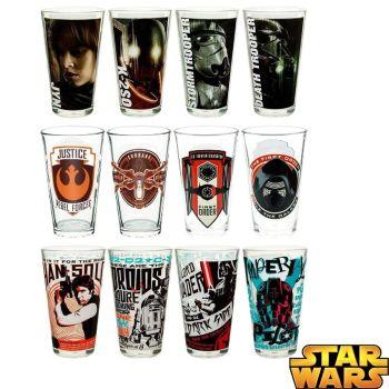Star Wars 12 Piece Decorative Retro Drinking Glass Set