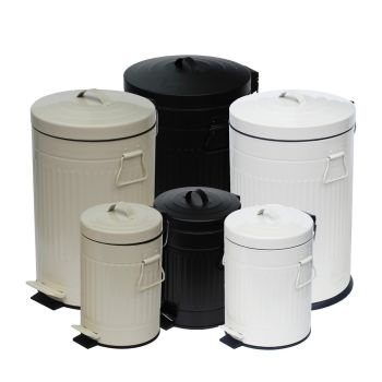 Vintage Style Indoor Household Pedal Dustbin Set with Removable Inner Bucket