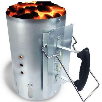 Large Chimney Charcoal Coal Starter BBQ Coal Fire
