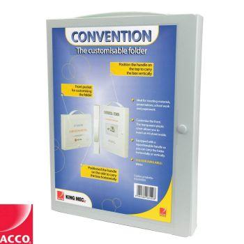 Acco Convention Folder A4 Business Organiser Box Folder Paperwork Storage