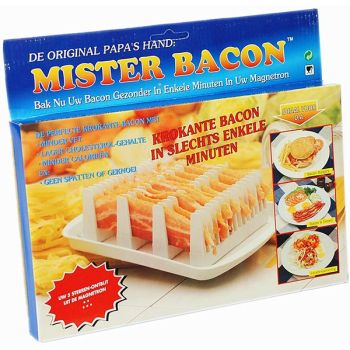 Mister Bacon Microwave Breakfast Cooking Browning Crisper Stand