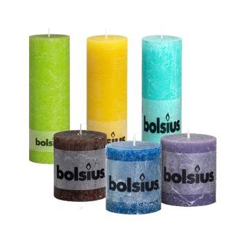 Bolsius Rustic Pillar Paraffin Wax Candle