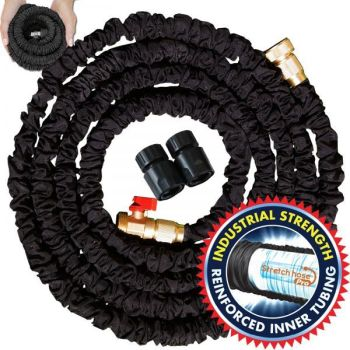 Stretch Hose Pro Expandable Water Hose Brass Fittings Garden