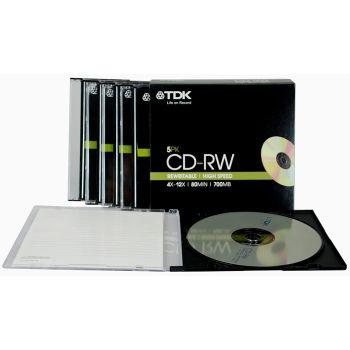 TDK T18791 4X-12X Speed 700MB 80min CD-RW