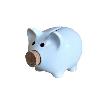 Ceramic Piggy Bank with Cork Stopper Nose Choice