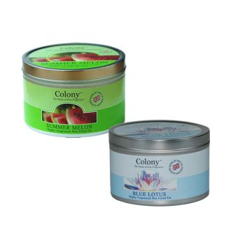 Colony Scented Candles in a Tin