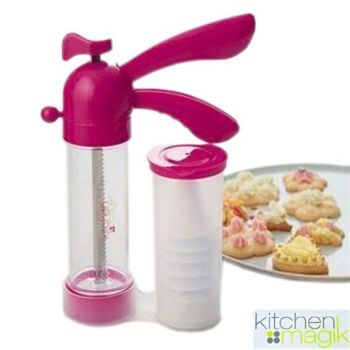 Cookie Creator - Biscuit Maker With 13 Cookie Discs And 6 Piping Nozzles