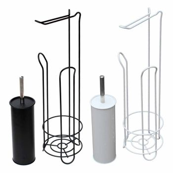 Free Standing Contemporary Toilet Roll Holder Bathroom Set