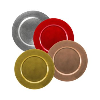 Decorative Plastic Charger Plates