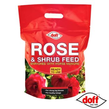 Doff Rose & Shrub Feed Enriched With Horse Manure - 3KG Resealable Bag