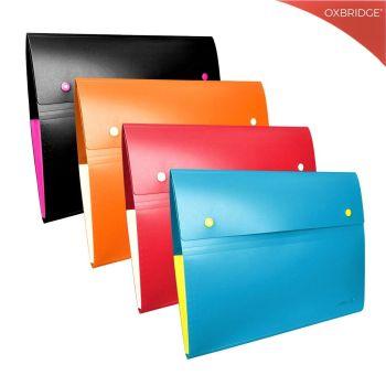 Expanding A4 File Folder - 8 Pocket Plastic Concertina File Organiser