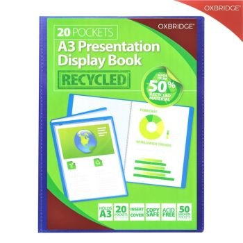 A3 20 Pocket Professional Presentation Display Book